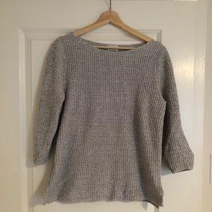 3/4 Sleeve Gray Sweater